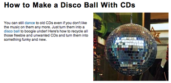 CDでミラーボールを作る方法