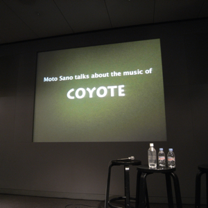 「Moto Sano talks about the music of COYOTE」Apple Store銀座