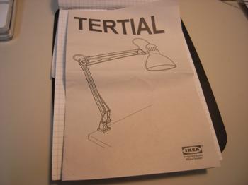 「IKEA」ワークランプをONEDARI