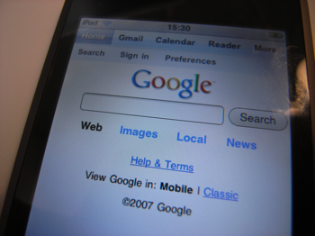 「Google Mobile」がiPhone/iPod touchに最適化