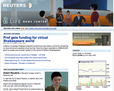 Reuters Second Life