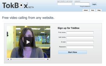 ソフトなしで手軽にビデオチャットできる「TokBox」