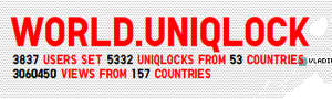World. Uniqlock4