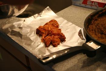 タモさんの「タンドリーチキン」をオーブンで焼く