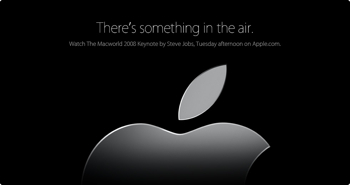 apple.comにも「There's something in the air.」
