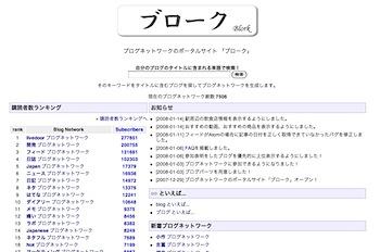 キーワードからブログネットワークを生成する「ブローク」