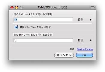 HTMLの表をクリップボードにコピーするFirefox機能拡張「Table2Clipboard」