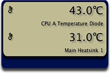 「MacBook Air」でCPU温度計測中