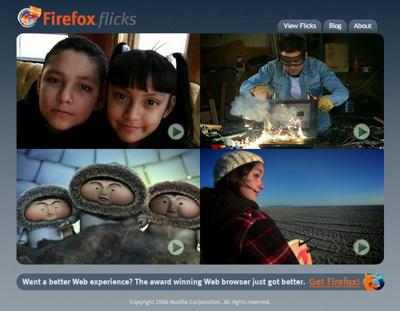 Firefoxのビデオコンテスト「Firefox Flicks」
