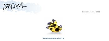 アプリケーションのイベントを通知してくれる「Growl」