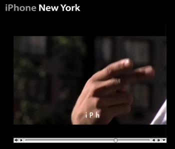 ニューヨークを舞台にした非公式な「iPhone」のCM