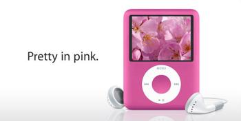 「iPod nano」にピンク追加