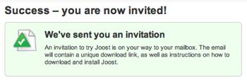 Joost Invite2