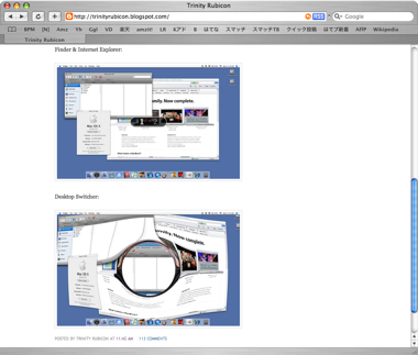「Mac OS X 10.5 Leopard」のスクリーンショット?