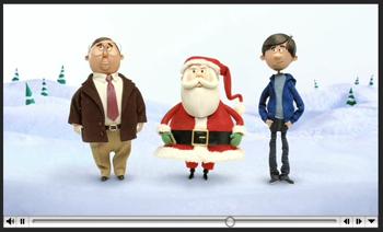 MacのCMにクレイアニメのクリスマスバージョン