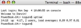 Macosx Uptime