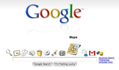 Mac OS XのDock風Google