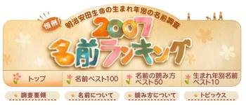 Meijiyasuda Name Rank1