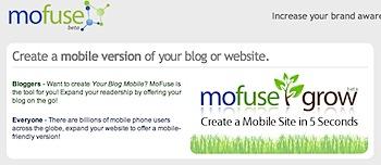 ブログをモバイル対応にする「MoFuse」