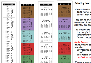 モニターのふちに貼り付けるカレンダー