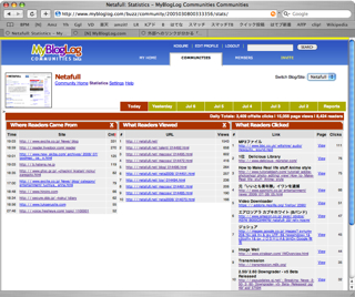 「MyBlogLog」バージョンアップでアクセス解析対応に