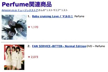 Perfume Matome Amazon1