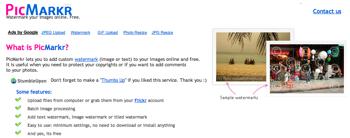 """Flickrの写真に""""透かし""""を入れる「PicMarkr」"""
