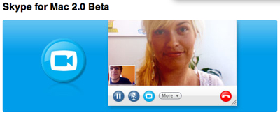 「Skype for Mac 2.0 Beta」リリース