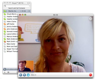 Skype Mac Video