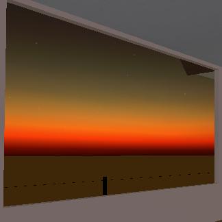「セカンドライフ」で見る夕日