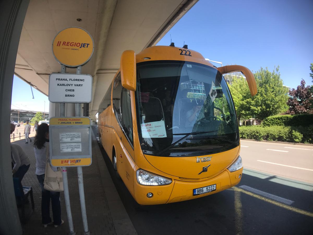 プラハ空港からカルロヴィヴァリへ高速バスで移動#チェコへ行こう #visitCzech #カルロヴィヴァリ