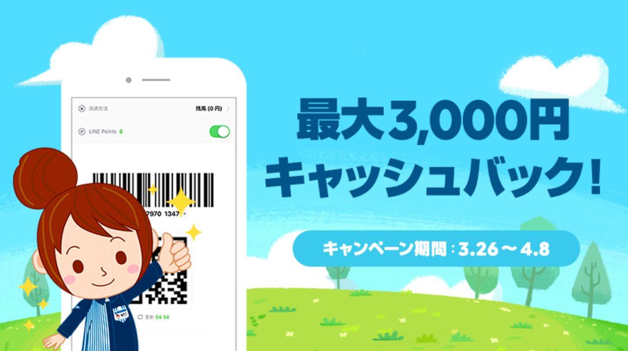 【LINE Pay】ローソンで最大3,000円キャッシュバックキャンペーン