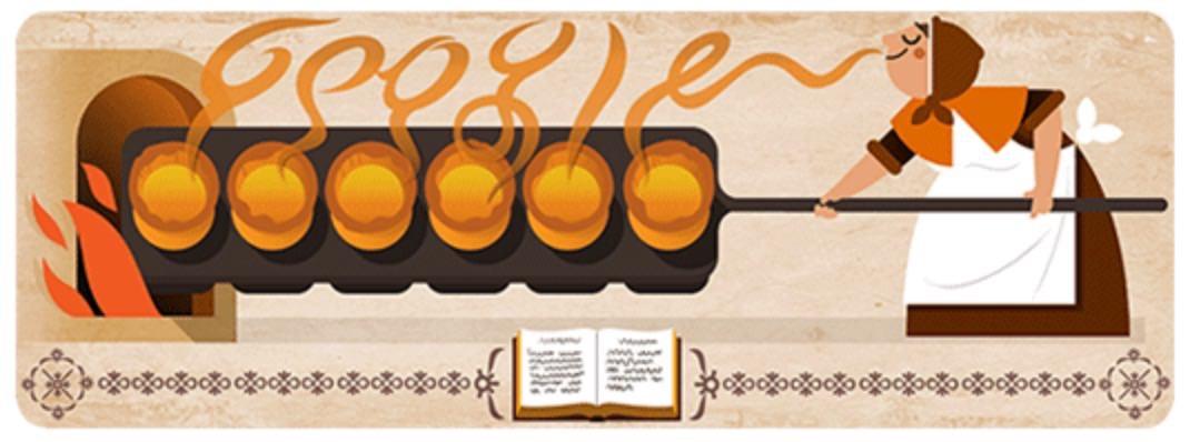 Googleロゴ「ハナー・グラス」に(料理作家)