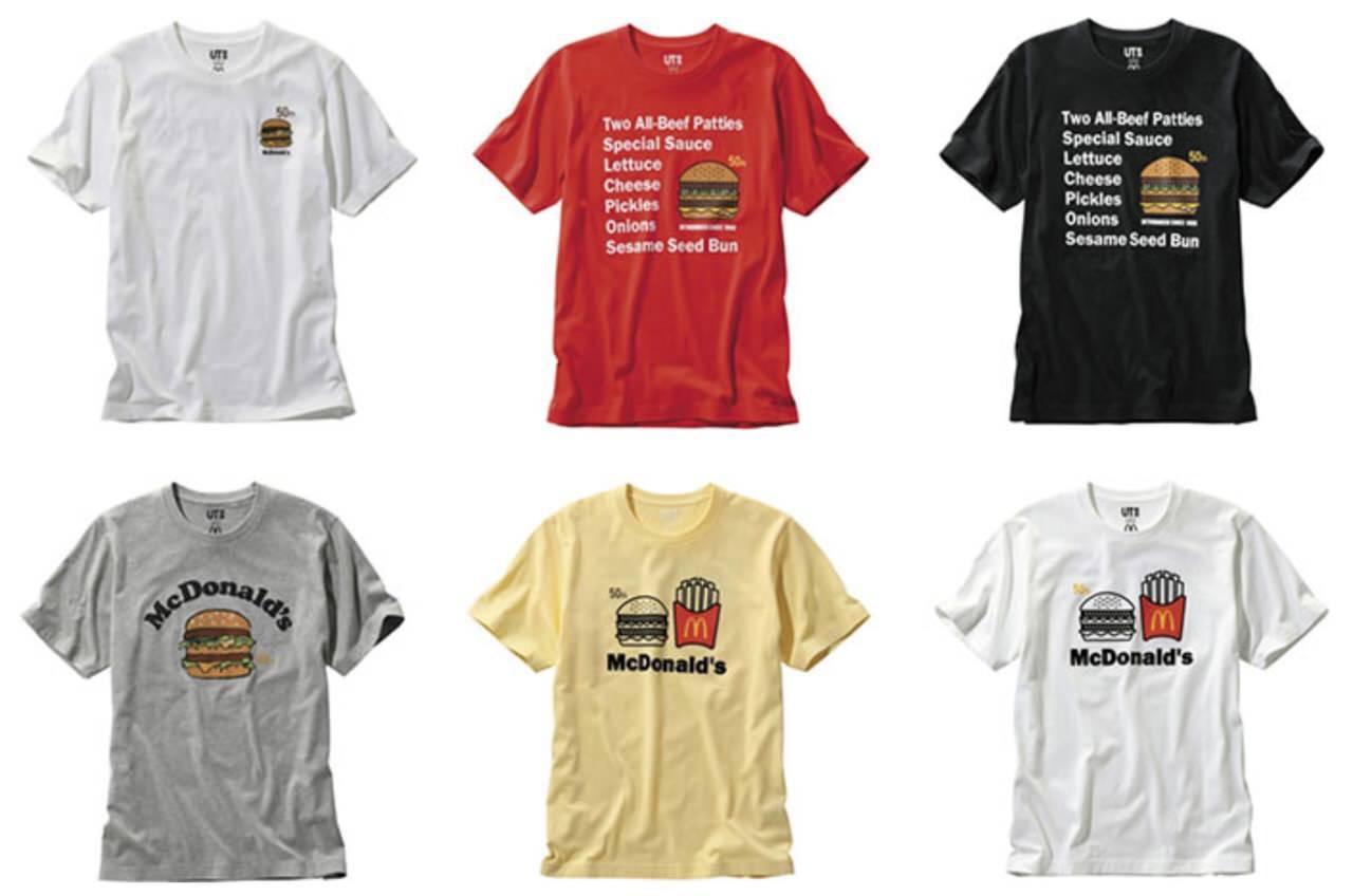 クーポン機能付きTシャツをマクドナルドとユニクロがコラボ「ビッグマック50周年記念クーポンTシャツ」