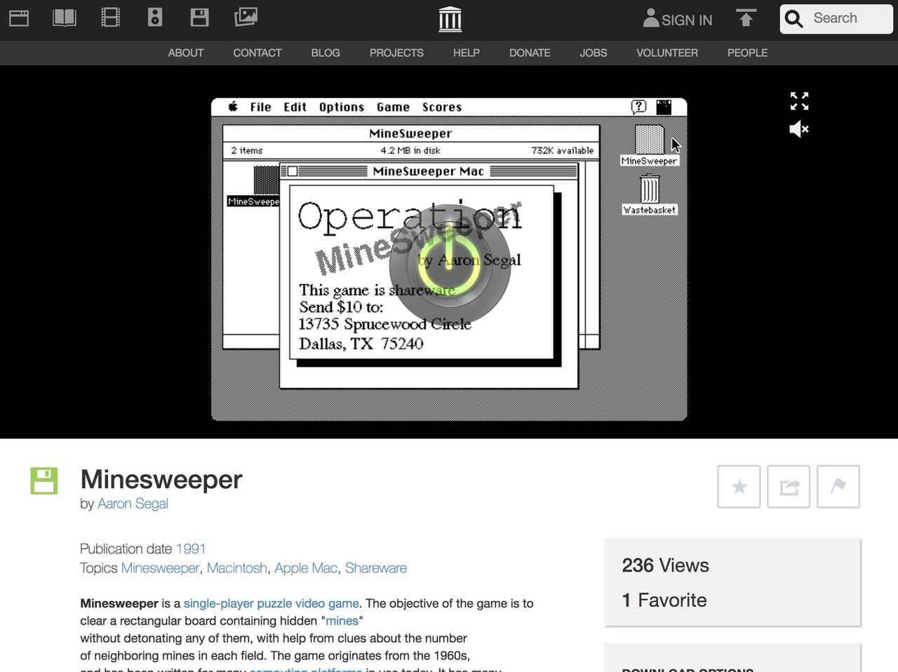Internet Archive:初期のMacソフトコレクション