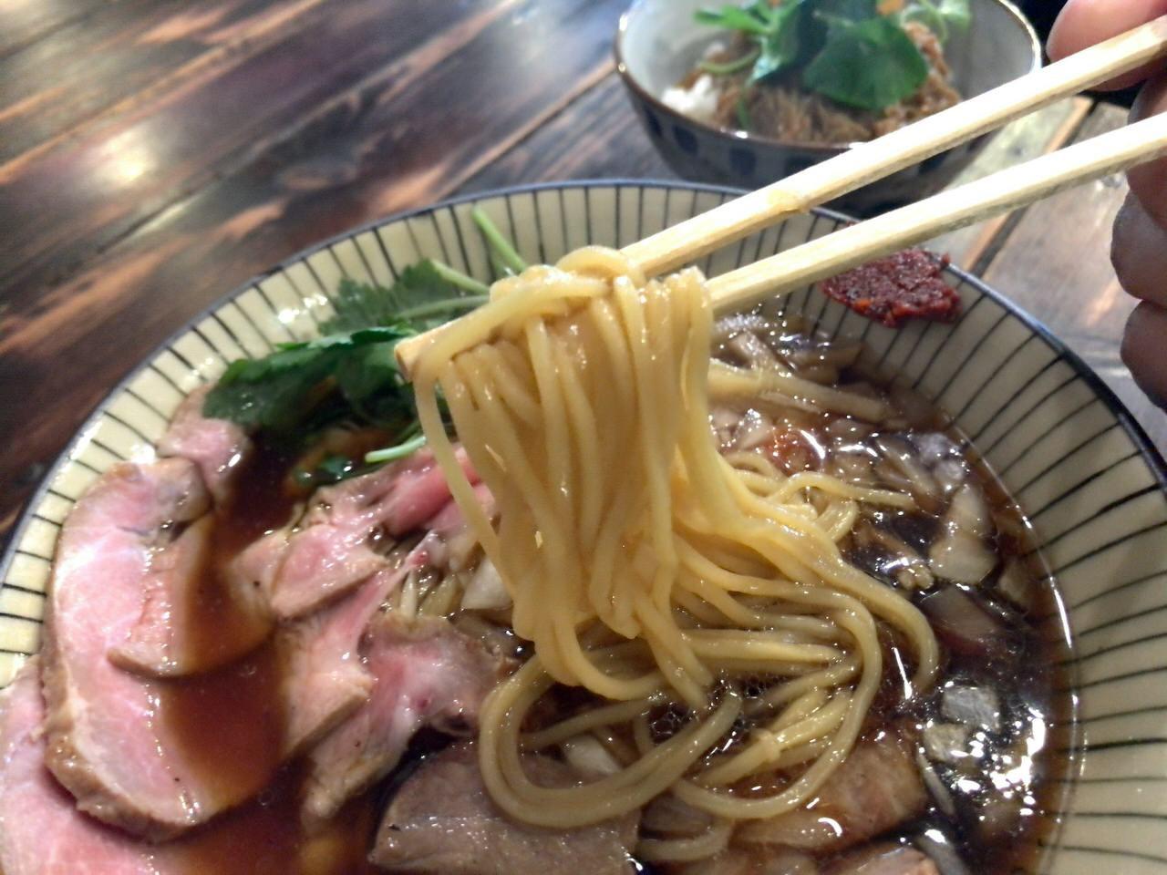 「仮麺中」麺が美味い