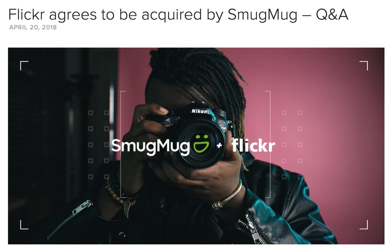 写真共有サービス「Flickr」を同業のSmugMugが買収