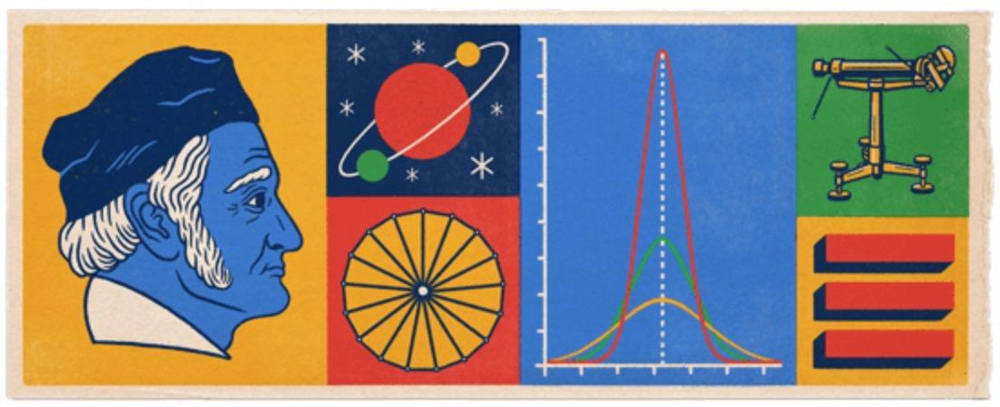Googleロゴ「カール・フリードリヒ・ガウス」に