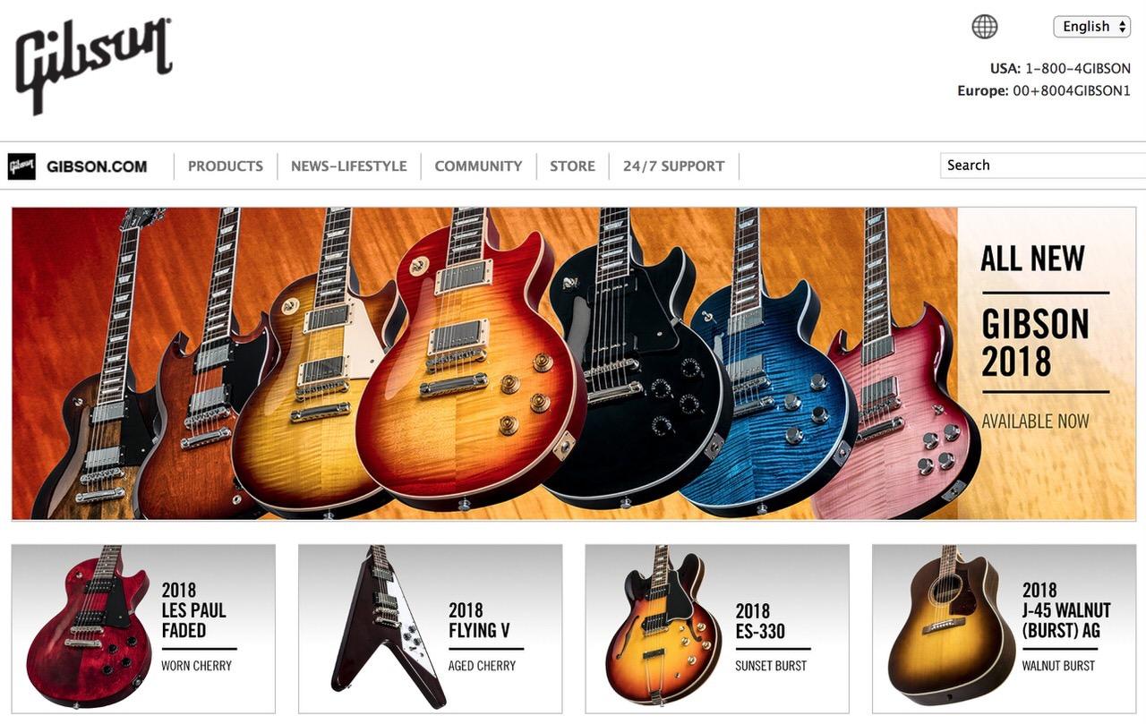 ギターの「ギブソン」が破産申請