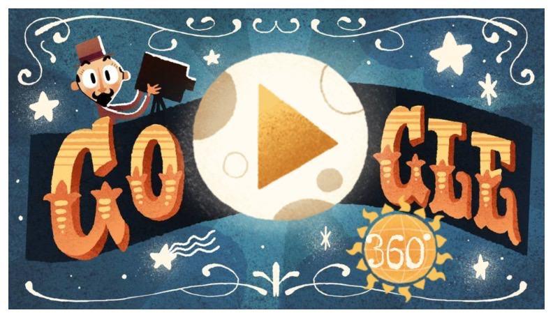 Googleロゴ「ジョルジュ・メリエス」に