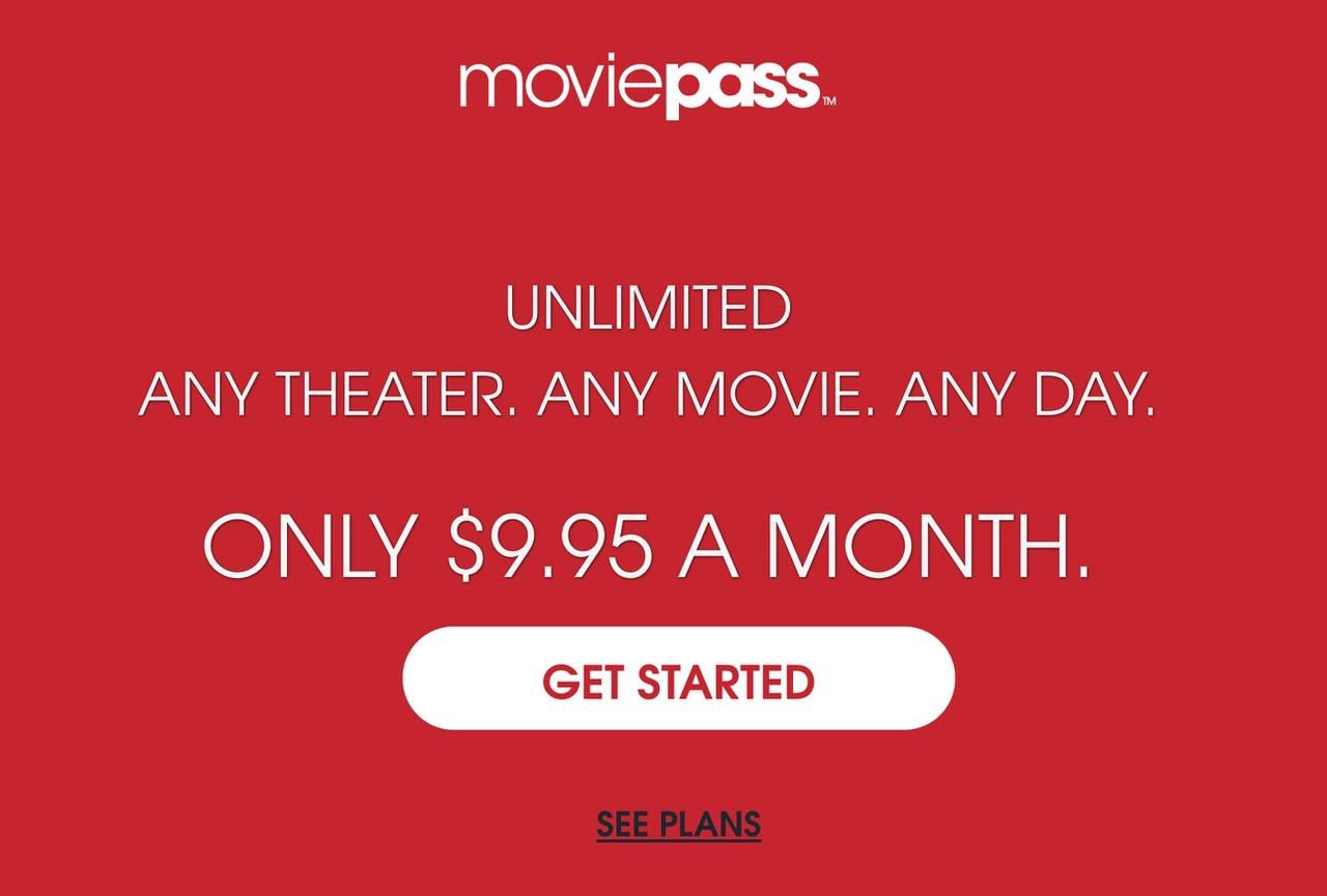 アメリカでは月額定額の映画見放題サービス「MoviePass(ムービーパス)」がヒット中(追記あり)