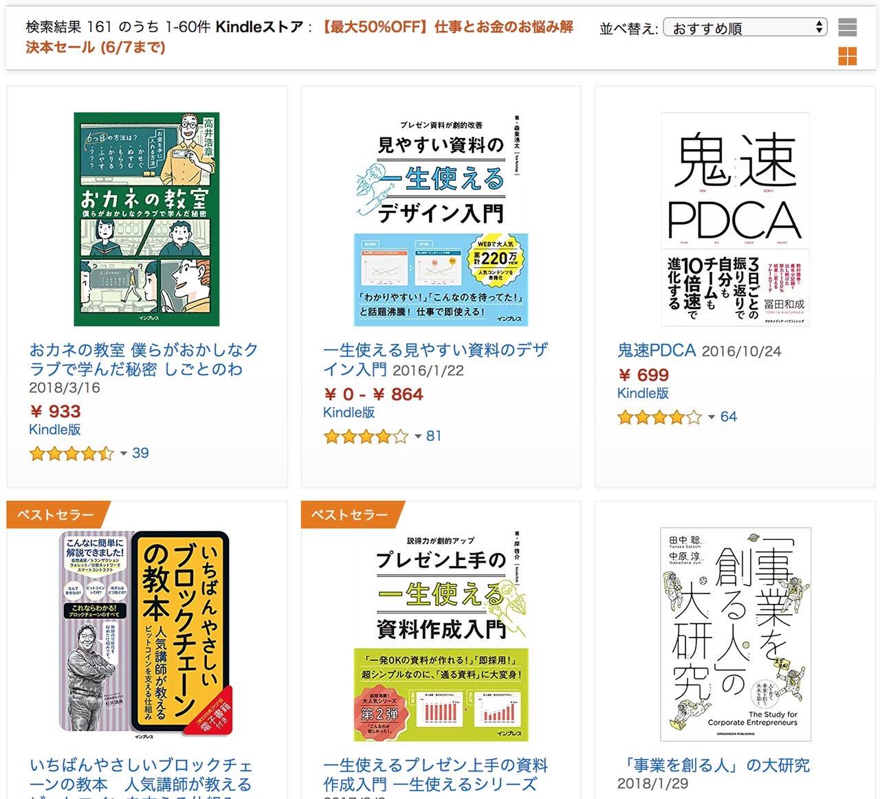 【Kindleセール】最大50%OFF「仕事とお金のお悩み解決本セール」(6/7まで)