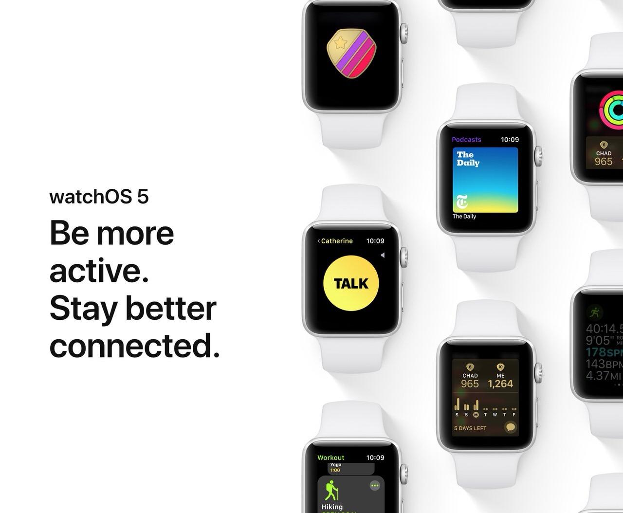 Apple「watchOS 5」発表 〜アクティビティ機能を強化