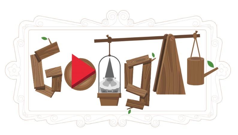 Googleロゴ「ガーデンノームの歴史」に