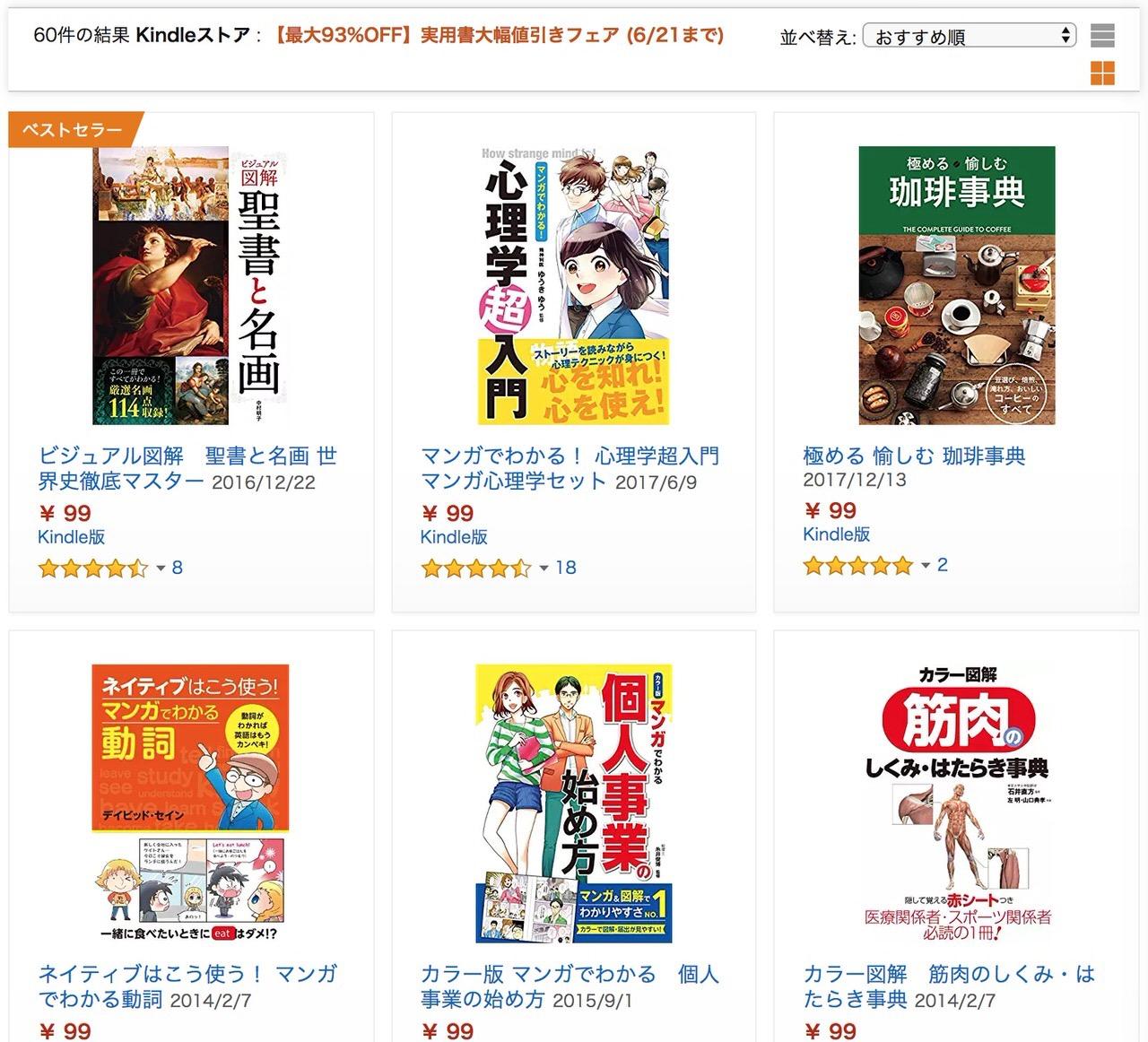 【Kindleセール】最大93%OFF「実用書大幅値引きフェア」(6/21まで)