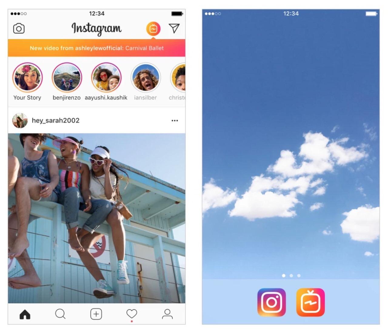 Instagramが縦方向の動画アプリ「IGTV」リリース 〜最長60分の投稿が可能