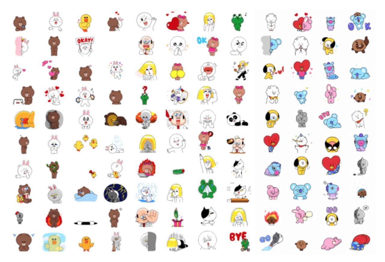 「LINE」6月23日に7周年を迎えスタンプ120種類増量