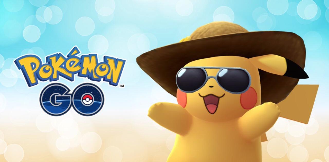 【ポケモンGO】2周年記念!麦わら帽子とサングラスを着けた「サマースタイル」のお祝いピカチュウが増量中