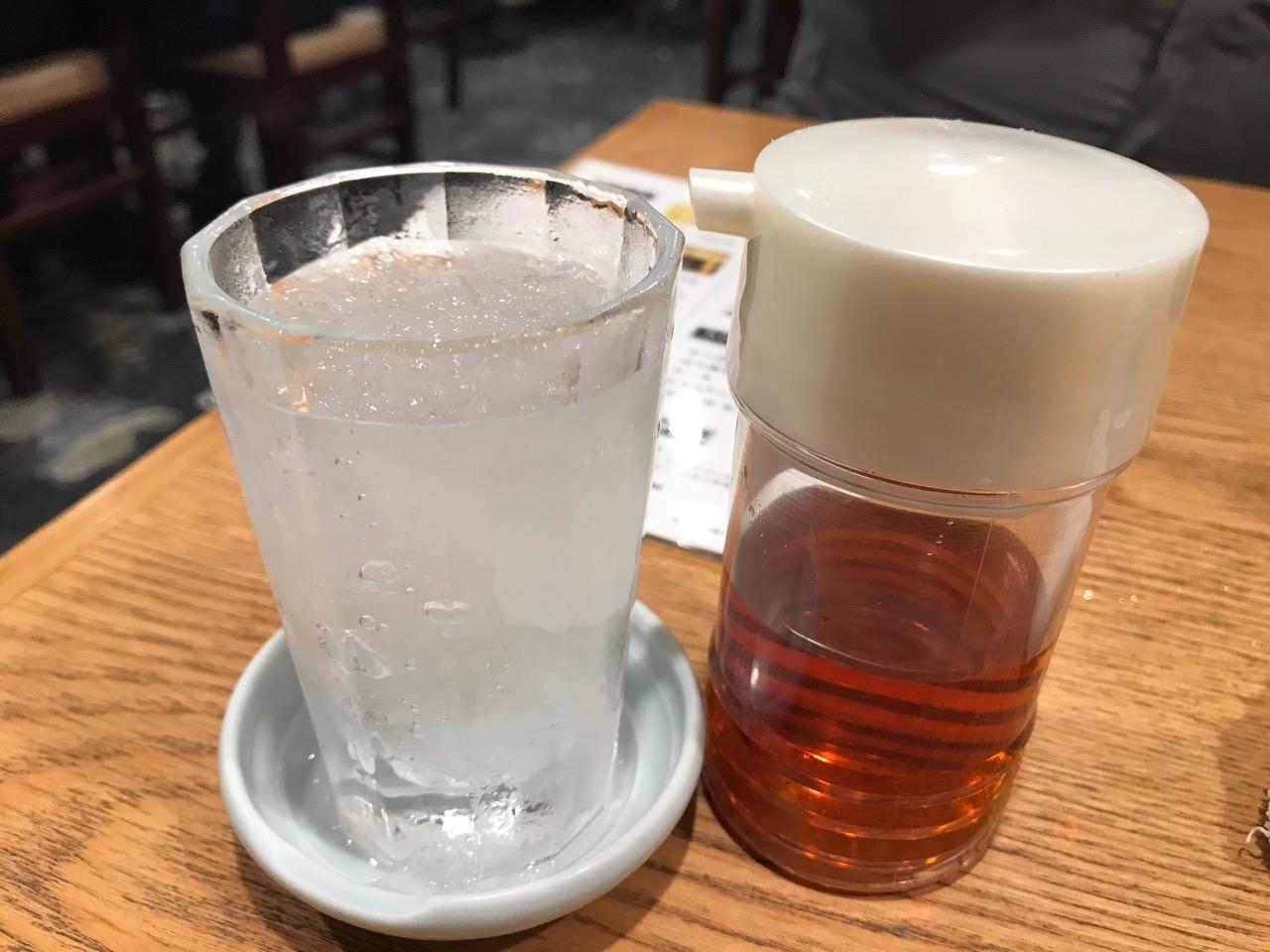もつ焼き 栄司 シャリキン梅割り