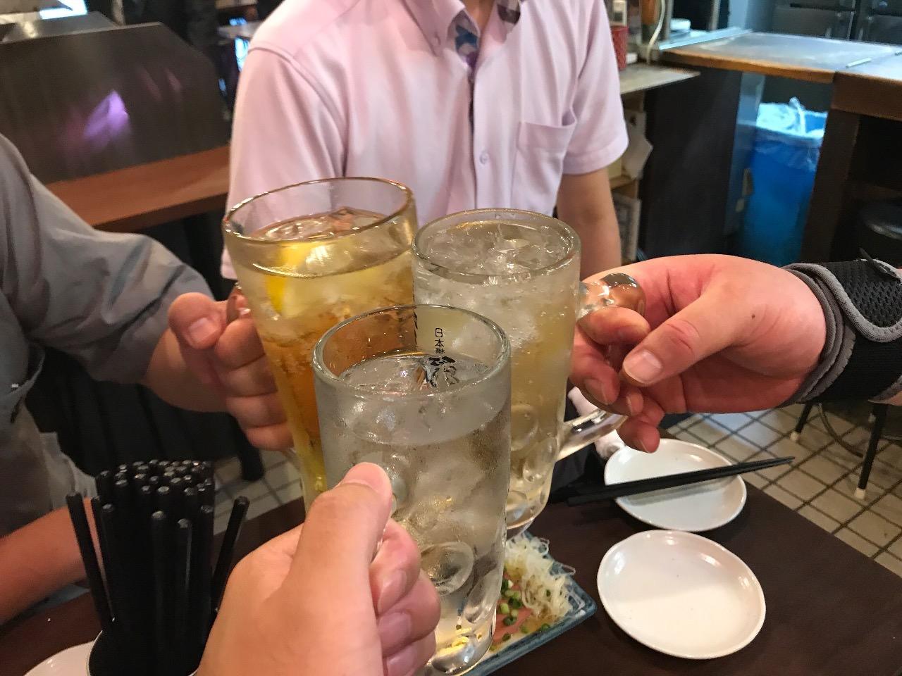 紅とん 日本橋本店 乾杯